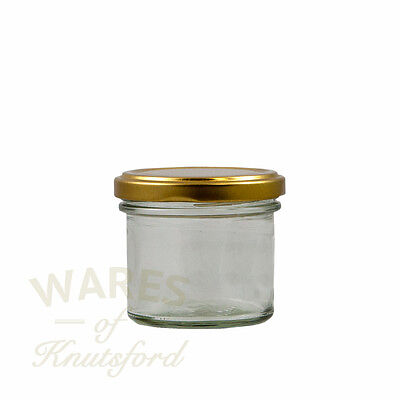 Small Glass Food Jars, 125ml, Packs: 12:192, With Lids, Pate, Curd, Jams, New *  • 7.95£