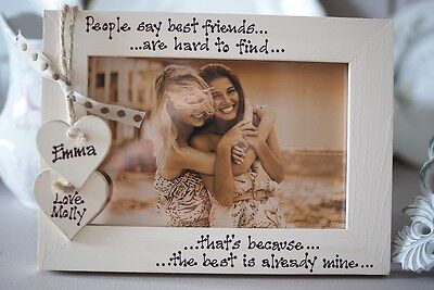 £13.95 • Buy Personalised Photo Frame! Best Friends Gift! 6x4''
