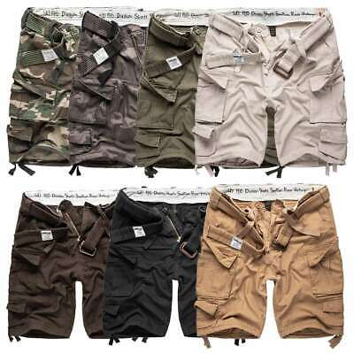 Surplus Division Mens Army Combat Cargo Shorts Work Miltary Style With Belt • 34.99£