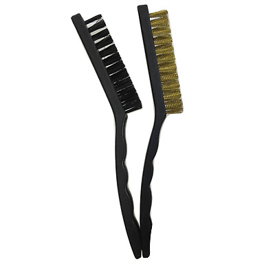 AU12 • Buy 2pcs LARGE WIRE BRUSH SET Steel Cleaning Brushes Brass Metal Tools 21cm