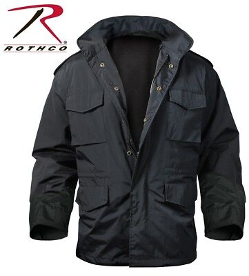 $69.99 • Buy Black Military Style Light Weight M-65 Field Jacket Storm Jacket Rothco 8644