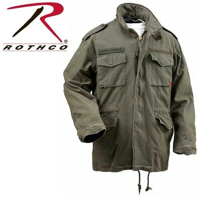$92.99 • Buy Olive Drab Vintage M-65 Military Field Jacket Army M65 Coat Rothco 8603