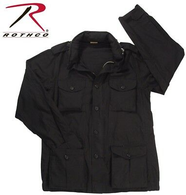$75.99 • Buy Black Vintage Lightweight M-65 Field Jacket Black Repro Of WWII Rothco 8751