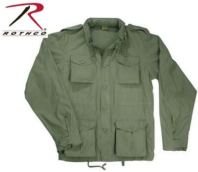 $79.99 • Buy OD Green Vintage Lightweight Military M-65 Field Jacket Rothco 8731