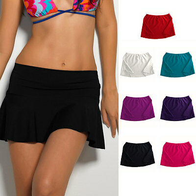 AU12.95 • Buy Beach Swimsuit Swimwear Bikini Short Style Summer Cover Up Solid Colour Skirt