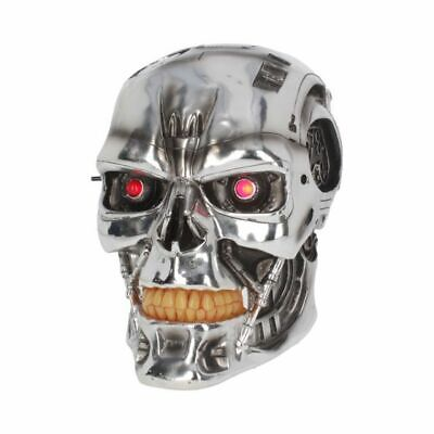 T-800 Terminator 2 Head Silver Skull Movie Collectable Judgement Day Wall Mask • 45£