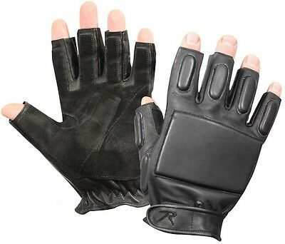 $28.99 • Buy Black Tactical Military & Police Security Fingerless Rappelling Gloves 3454
