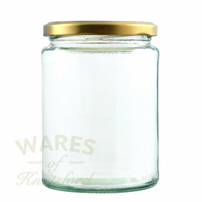 Deluxe Glass Jam Jars, 300ml, Packs:12-192, With Lids, Preserves, Pickles, New* • 32.95£