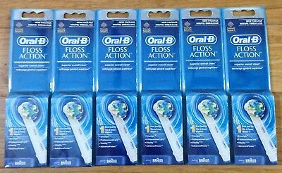 AU47.28 • Buy GENUINE 6 ORAL-B Floss Action TRIUMPH Replacement Single Packs Tooth Brush Heads