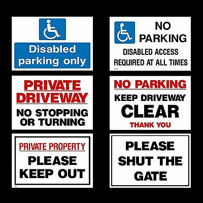 £4.29 • Buy No Parking/Private Property/Disabled - 3mm Metal Sign - 3 Sizes