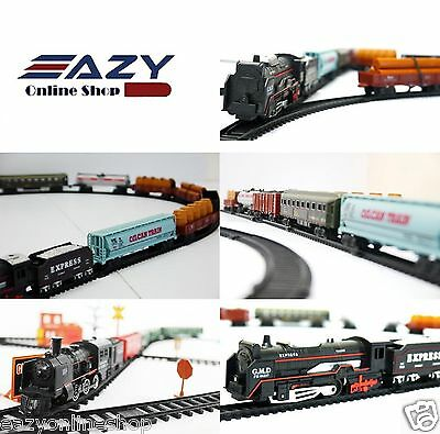 £9.49 • Buy Classic Train Set Tracks Toy Battery Operated Tanker Carriage Engine Light Sound