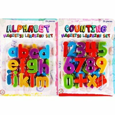 Magnetic Letters And Numbers Fridge Magnets Large Kids Baby Strong ABC Alphabet • 2.49£
