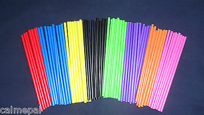 £2.35 • Buy Coloured Plastic Lollipop  Cake Pop  Craft Sticks 6  (150mm)
