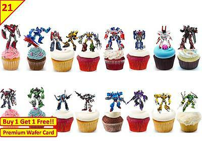 £5.09 • Buy 42 TRANSFORMERS Birthday Party Cup Cake Edible Wafer Rice Toppers Stand Up