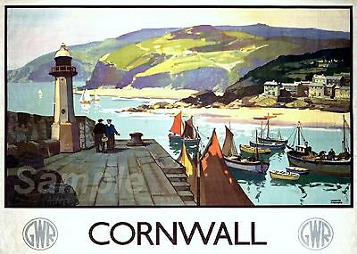 £6.94 • Buy Vintage Cornwall Gwr Travel A3 Poster Print