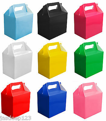 £3.40 • Buy 10 Childrens Party Lunch Boxes Takeaway Boxes Birthday Wedding Food Bag Meal
