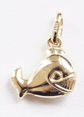 14k Yellow Gold Fish Charm Pendant • 62.99$