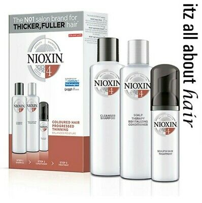 AU41.95 • Buy Nioxin System 4 Starter Kit For Progressed Thinning Coloured Hair Aus Stock
