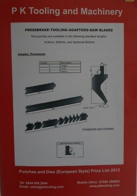 £0.99 • Buy Press Brake Tooling Catalogue, For Euro Style Tools. Also Includes Adaptors.