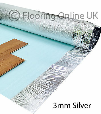 15m2 - 3mm Comfort Silver - Acoustic Underlay For Wood & Laminate Flooring • 17.50£