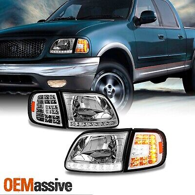 $110.99 • Buy Fit 1997-2003 Ford F150 /97-02 Expedition Headlights +LED Corner Signal Lights