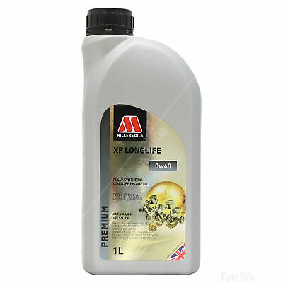 Millers Oils XF Longlife 0w-40 0w40 Fully Synthetic Engine Oil 5 Litres 5L • 37.95£