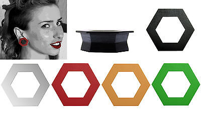 $2.99 • Buy GeoGauges Brand Hexagon Shaped Silicone Tunnels Ear Plugs Gauges Body Jewelry