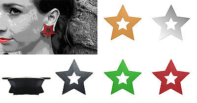 $2.99 • Buy GeoGauges Brand Star Shaped Silicone Tunnels Ear Plugs Gauges Body Jewelry