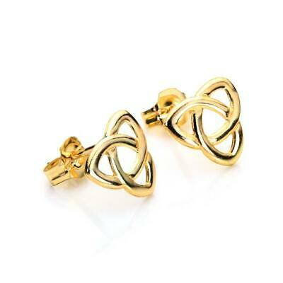 9ct Yellow Gold Triangular Celtic Knot Stud Earrings / Studs • 22£