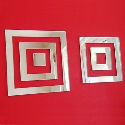 £11.99 • Buy Square Infinity Shaped Acrylic Mirrors - Various Sizes