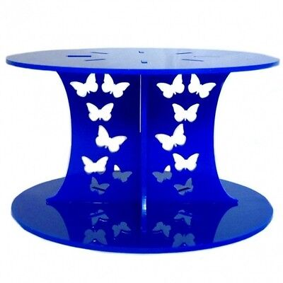 Butterfly Design Round Cake Separator - Blue • 16.49£