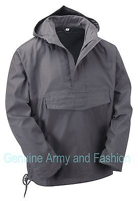 £24.50 • Buy Army Smock Military Combat Style Hooded Jacket Tactical Fishing Top Anorak Grey