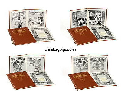 PERSONALISED RUGBY Team Club NEWSPAPER Book History Gifts For Fan Present    • 46.99£
