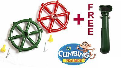 Outdoor Play Periscope + FREE Pirate Ship Boat Steering Wheel Climbing Frame • 19.95£