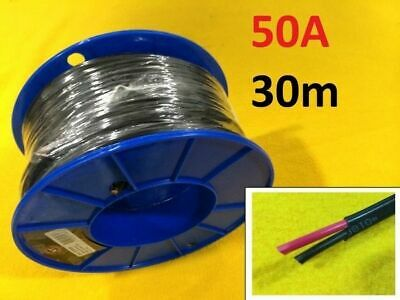 AU117.66 • Buy 30m X 38 Amp Auto Cable 6 Mm Twin Core Dual Sheath Electrical Wire TYCAB