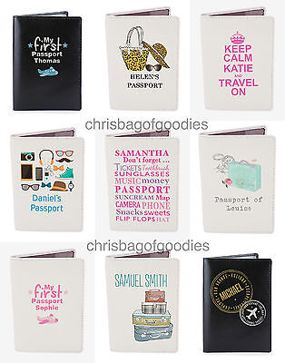 £14.99 • Buy PERSONALISED Leather Passport Cover Holder Protector Wallet Travel UK European