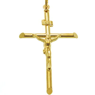 £99.99 • Buy 9ct Gold Crucifix Cross Pendant Necklace With Gift Box