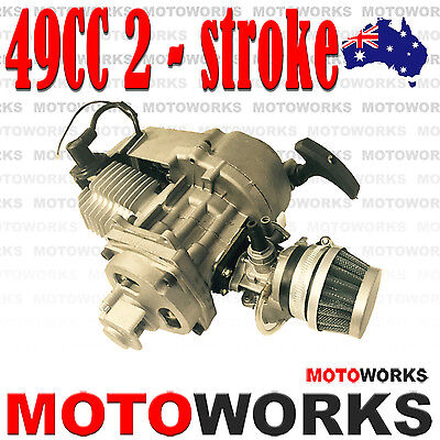 AU89.99 • Buy 49cc 2 Stroke Pull Start Engine Motor Mini Pocket PIT Quad Dirt Bike ATV K