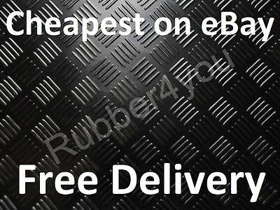 £20.99 • Buy Superior CHECKER-PLATE Studded Garage Shed Rubber Flooring Matting 1.5m X 3mm