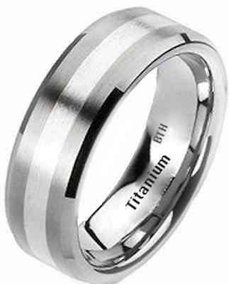 £39.99 • Buy New Mens 925 Sterling Silver And Titanium Wedding Engagement Band Ring