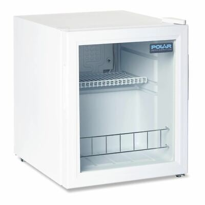 Polar Counter Top Display Fridge In White Finish With Double Glazed Door - 46L • 143.98£
