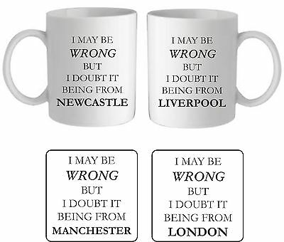£8.95 • Buy I May Be Wrong I Doubt It Mug Personalised Town Birthday Funny Gift For Him Her