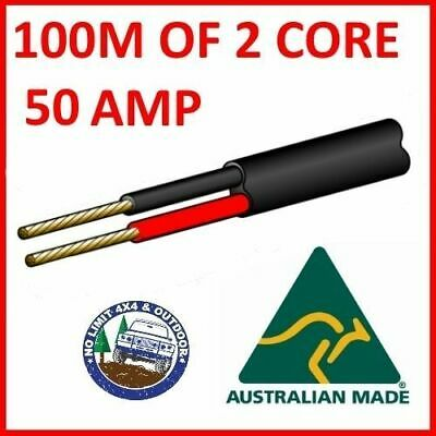 AU270 • Buy 100m Of 2 Core 50 Amp 6mm Wire Cable Truck Trailer Boat Car Wiring Light Roll