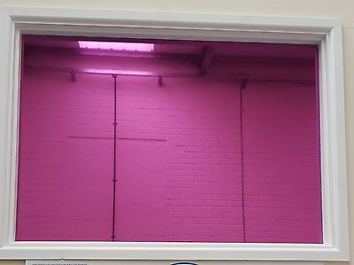MIRROR PINK - PRIVACY ONE WAY WINDOW TINTING PRO TINT FILM 51, 76, 100, 152cm • 0.99£
