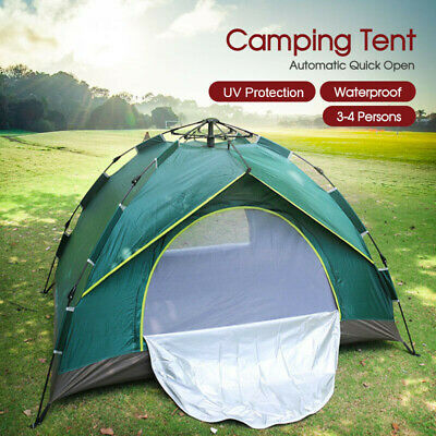 AU44.99 • Buy Double Layer Waterproof Automatic Quick Open Camping Tent Outdoor 3-4 Persons
