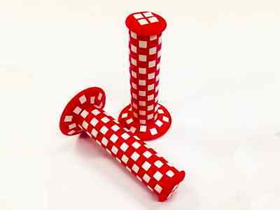 AU24.99 • Buy Bmx Old School Bmx Grips Checkered Grips Red / White