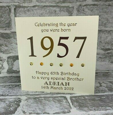 65th 1955 Year You Were Born Birthday Card Personalised 6  Dad Uncle Husband Son • 3.75£