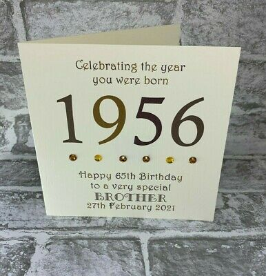 £3.95 • Buy 65th 1956 Year You Were Born Birthday Card Personalised 6  Dad Uncle Husband Son