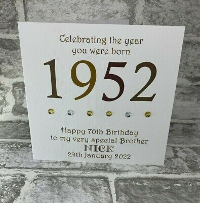 70th 1950 Year You Were Born Birthday Card Personalised Dad Gramp Uncle Brother • 3.75£