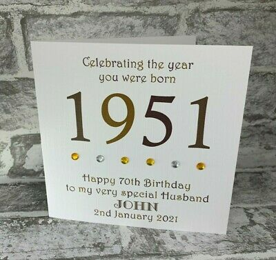 £3.95 • Buy 70th 1951 Year You Were Born Birthday Card Personalised Dad Gramp Uncle Brother